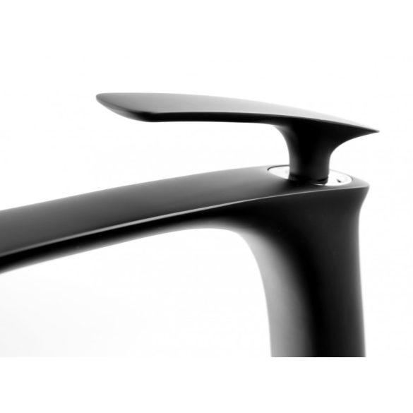 Gamma Trend 4in1 magasított mosdó + kád csaptelep + zuhanyrózsa + klikk klakk leeresztő szelep - matt fekete