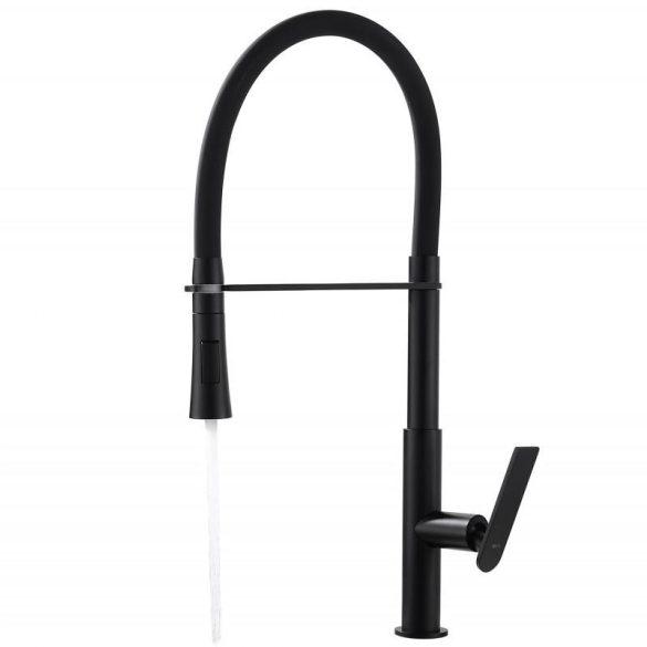 Yoka Home Savona mosogató csaptelep flexibilis zuhanyfejjel - fekete