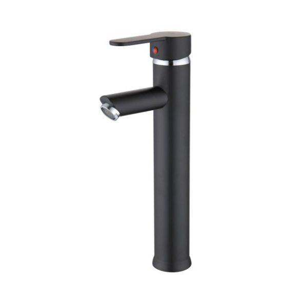 Yoka Oslo magasított fürdőszobai mosdó csaptelep - fekete