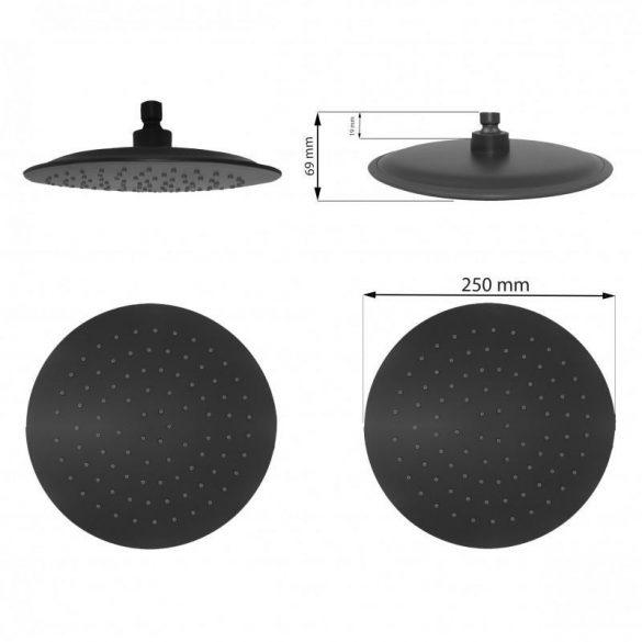 Yoka Bergen zuhanyrendszer termosztátos csapteleppel - fekete