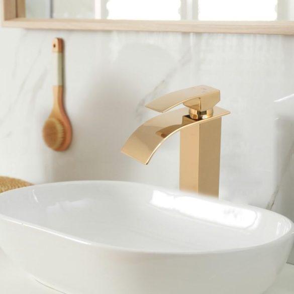 YOKA Niagara magasított fürdőszobai mosdó csaptelep - arany