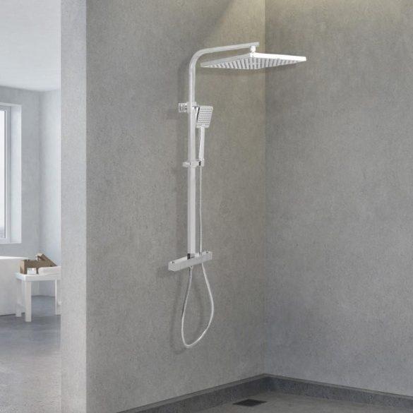 Yoka Cube-Line zuhanyrendszer termosztátos csapteleppel - króm