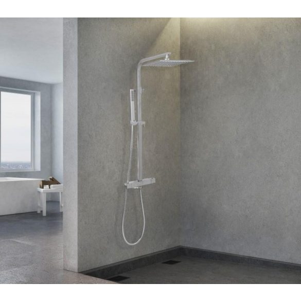 Yoka Gira zuhanyrendszer termosztátos csapteleppel - króm
