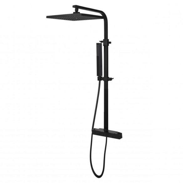 Yoka Cube-Line zuhanyrendszer termosztátos csapteleppel - fekete