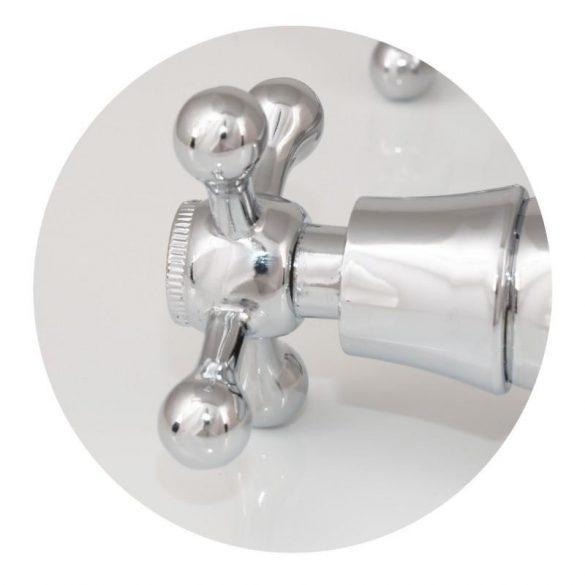 Yoka Retro flexibilis fali mosogató / mosdó csaptelep - fekete / króm