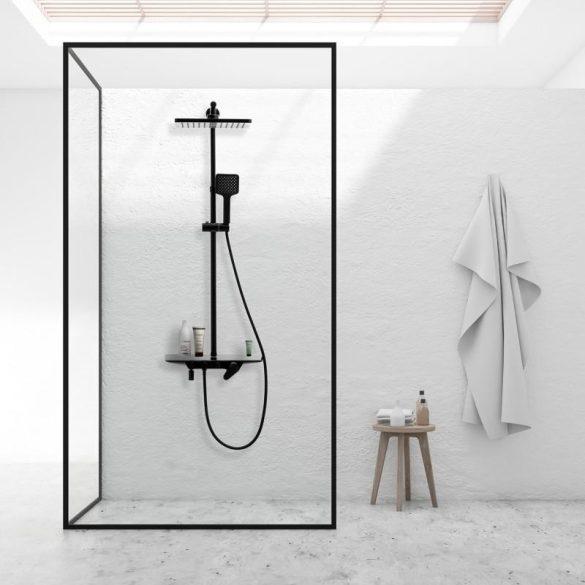 Yoka Loft-30 többfunkciós zuhanyrendszer csapteleppel - fekete