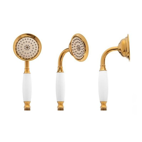 Yoka Vintage 3 funkciós zuhanyrendszer - fekete-arany