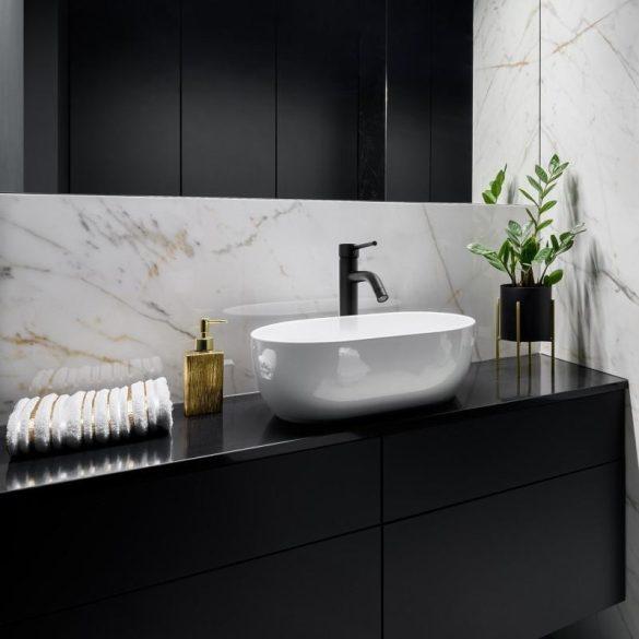 YOKA Home magasított mosdó csaptelep - fekete