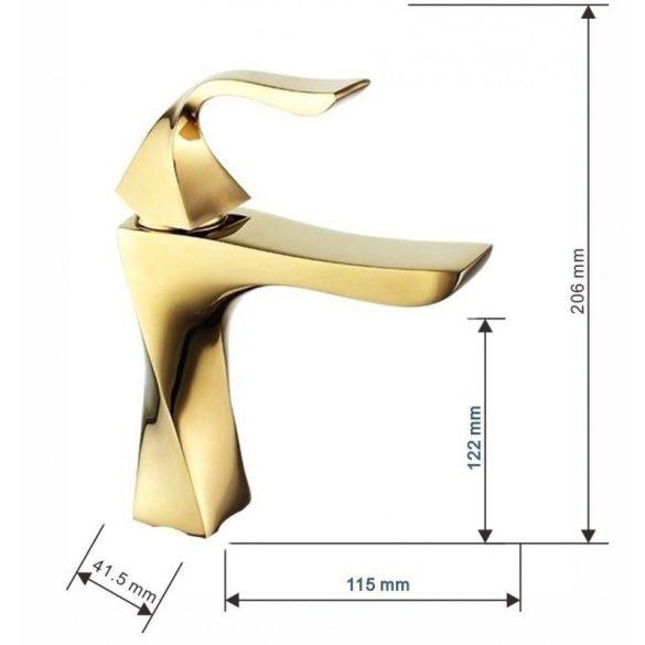Mexen Estrella mosdó csaptelep - arany (72300-50)