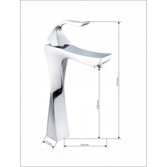 Mexen Estrella magasított fürdőszobai mosdó csaptelep - króm (72310-00)
