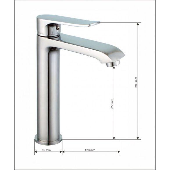 Mexen Ponte magasított fürdőszobai mosdó csaptelep - króm (72710-00)
