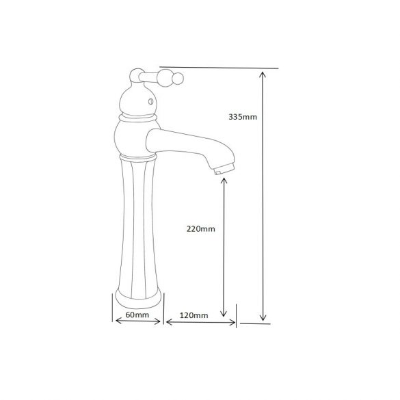 Mexen Retro magasított mosdó csaptelep - króm (73210-00)