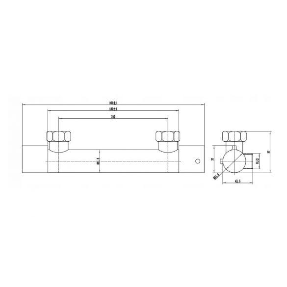 Mexen Slim termosztátos zuhany csaptelep - króm (77105-00)
