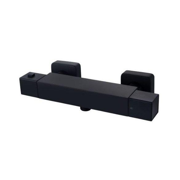 Mexen Cube termosztátos zuhany csaptelep - fekete (77200-70)