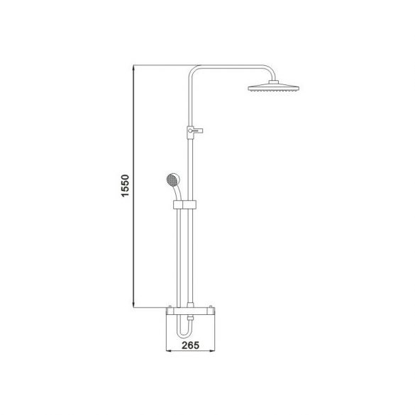 Mexen Denis Zuhanyrendszer 24 x 24 cm (78135-70)