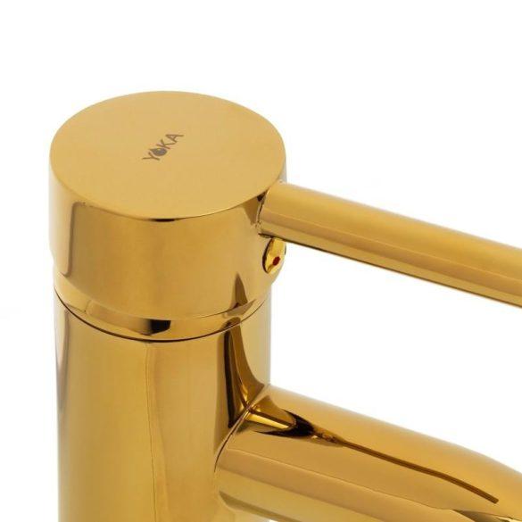 YOKA Home magasított fürdőszobai mosdó csaptelep - arany