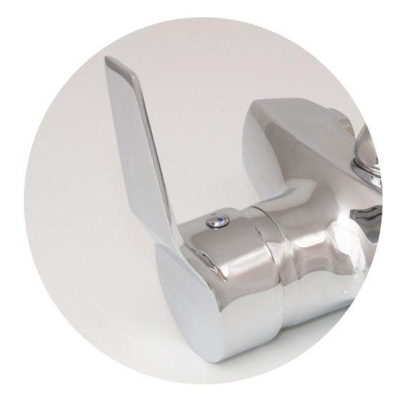 Yoka flexibilis fali mosogató / mosdó csaptelep zuhanyfejjel - szürke / króm