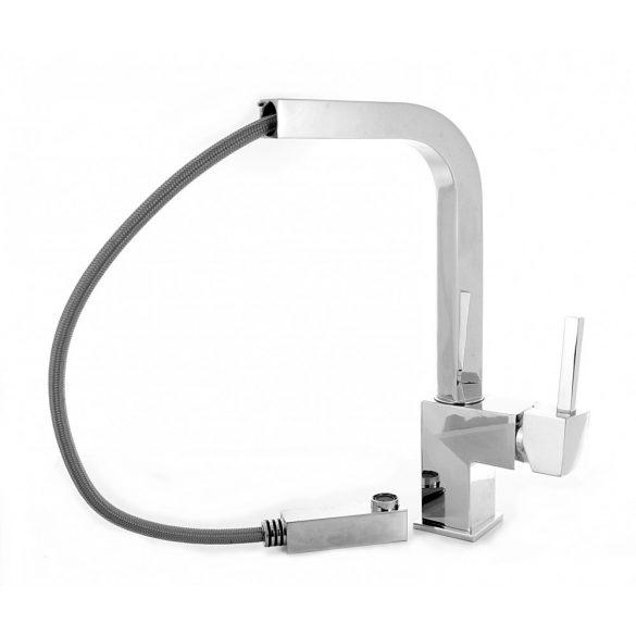 Gamma Design-Max mosogató csaptelep - kihúzható fej - króm