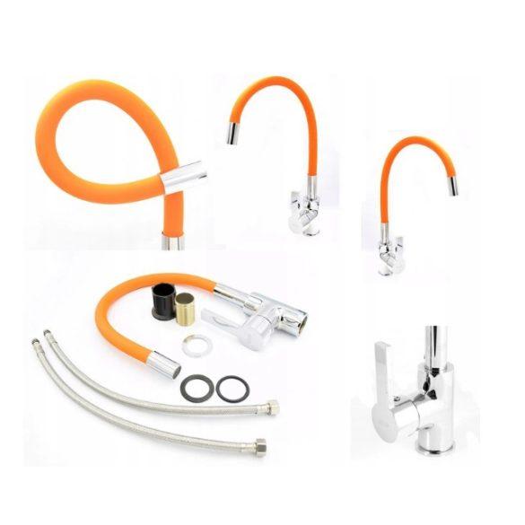FLEXI Elasztikus Mosogató Csaptelep - Hajlítható - Narancssárga