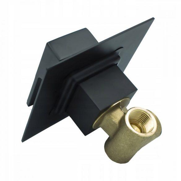Gamma Quadrant fali bidé csaptelep, bidézuhany - szögletes - fekete