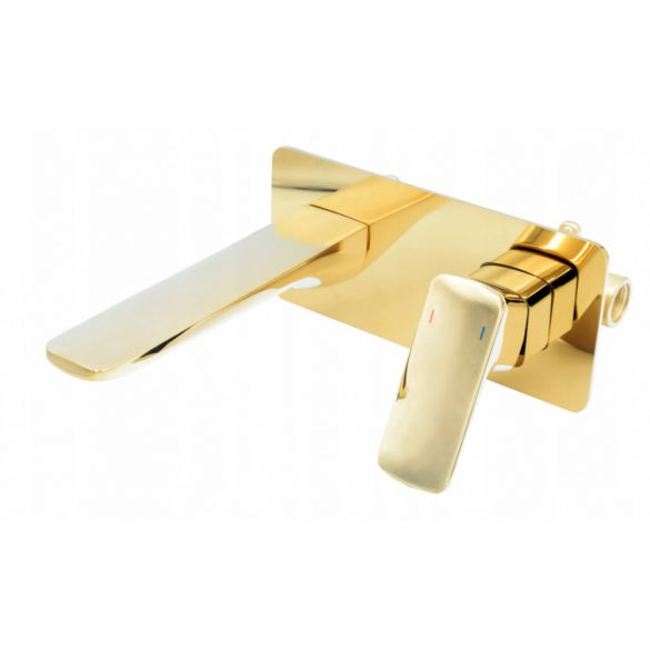 Gamma Cubic rejtett fali mosdócsaptelep - arany
