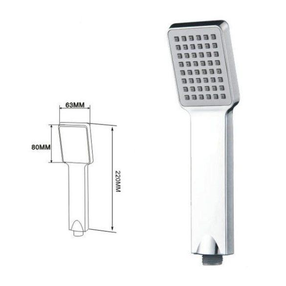 Gamma Riva 3in1 mosdó + kádtölő csaptelep + zuhanyszett - króm / fekete