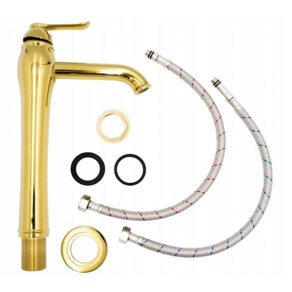 Gamma Victorian Gold magasított mosdó csaptelep - arany