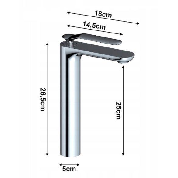 Gamma Vento magasított mosdó csaptelep - króm