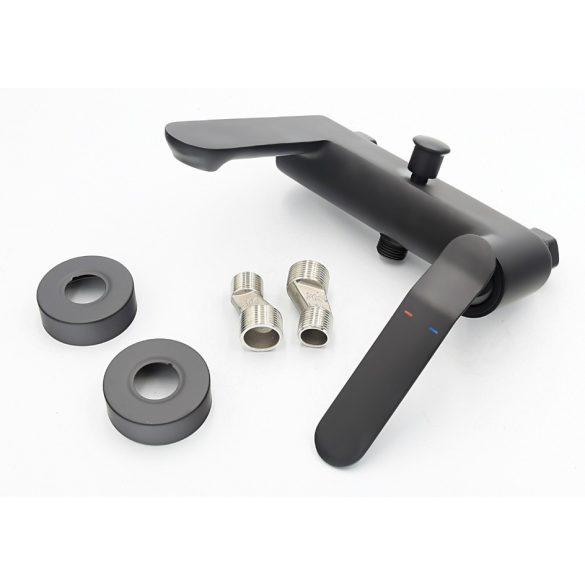 Gamma Vento 3in1 magasított mosdó + kádtöltő csaptelep + zuhanyszett - matt fekete