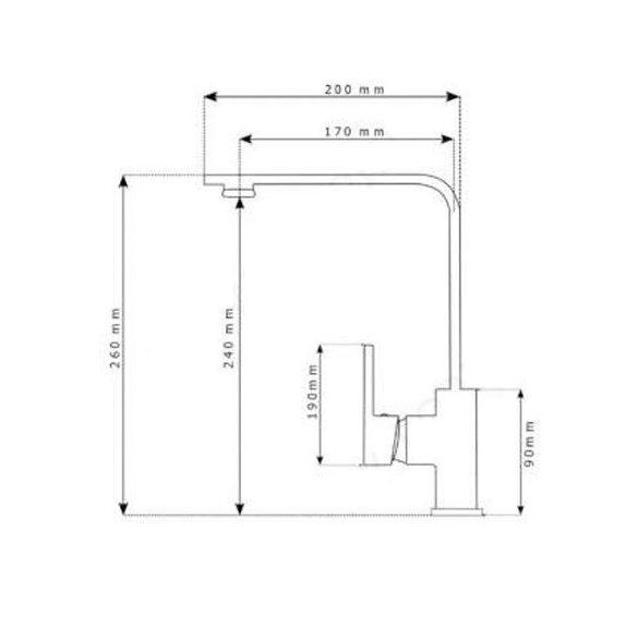 Gamma Design White-Chrom BiColor Mosogató Csaptelep