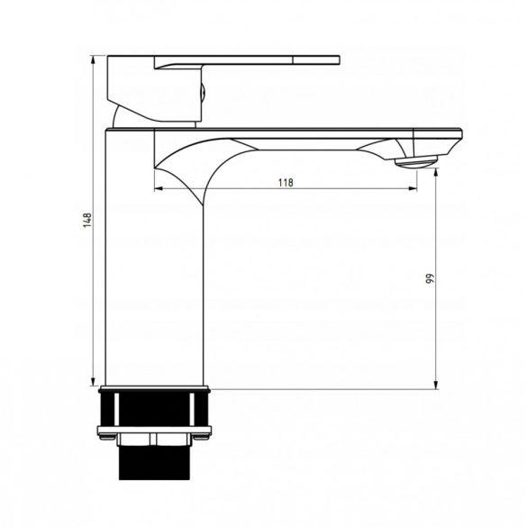 Mexen Milo mosdó csaptelep - fekete (71300-70)