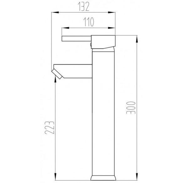 Mexen Lua-2 magasított fürdőszobai mosdó csaptelep - króm (72810-00)