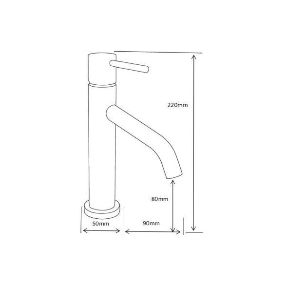 Mexen Rumba fürdőszobai mosdó csaptelep - fekete (73500-70)