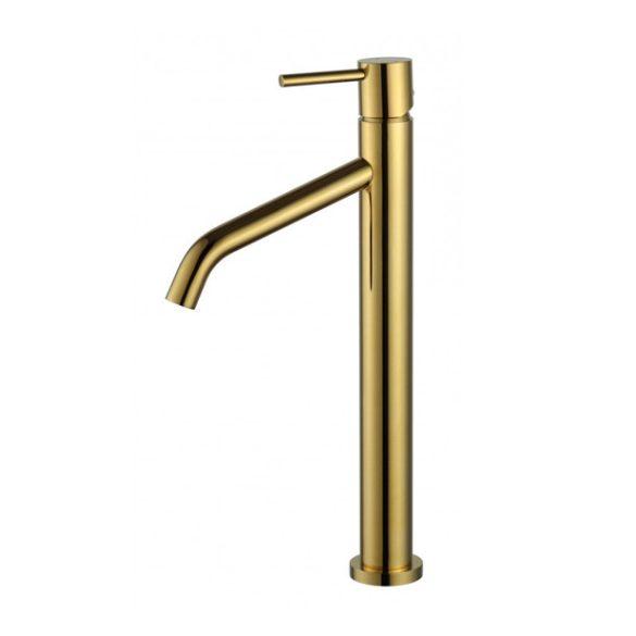 Mexen Rumba magasított fürdőszobai mosdó csaptelep - arany (73510-50)