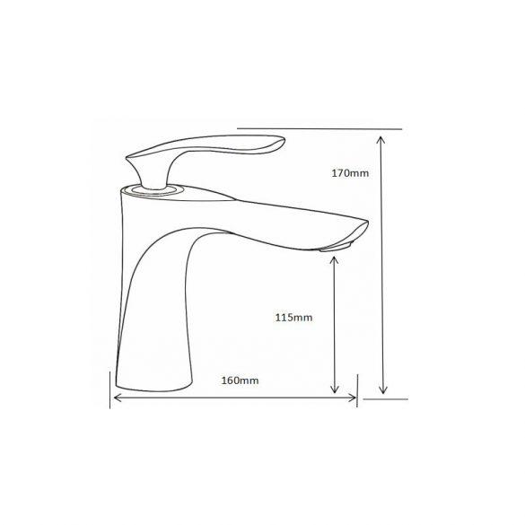 Mexen Lily mosdó csaptelep - fekete / króm (73600-17)