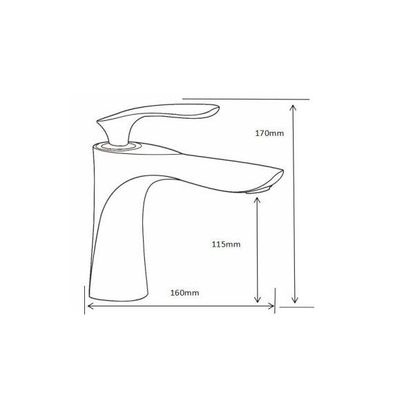 Mexen Lily mosdó csaptelep - fekete (73600-70)