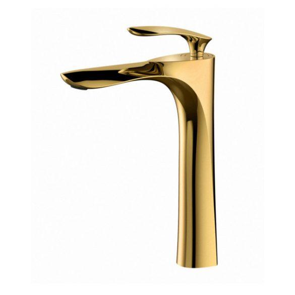 Mexen Lily magasított fürdőszobai mosdó csaptelep - arany (73610-50)