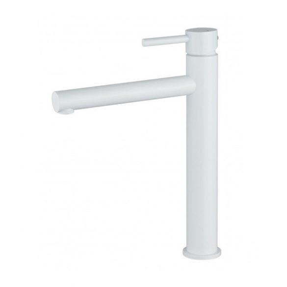 Mexen Elba magasított fürdőszobai mosdó csaptelep - fehér (74110-20)