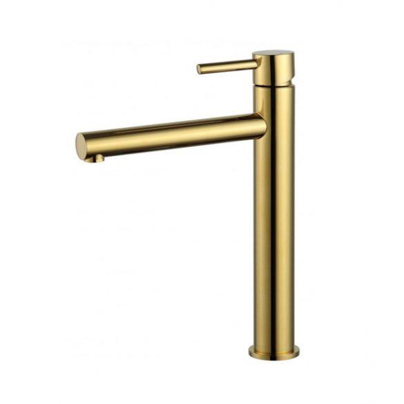 Mexen Elba magasított fürdőszobai mosdó csaptelep - arany  (74110-50)