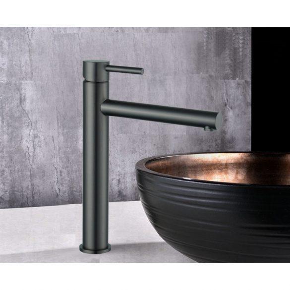 Mexen Elba magasított fürdőszobai mosdó csaptelep - grafit (74110-66)