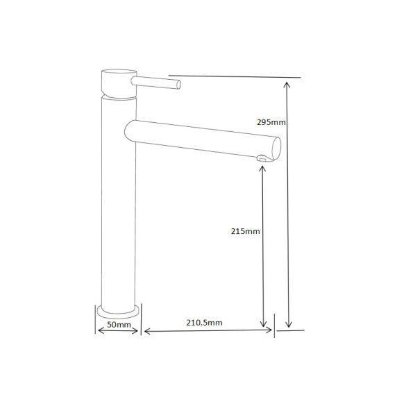 Mexen Elba magasított fürdőszobai mosdó csaptelep - fekete  (74110-70)