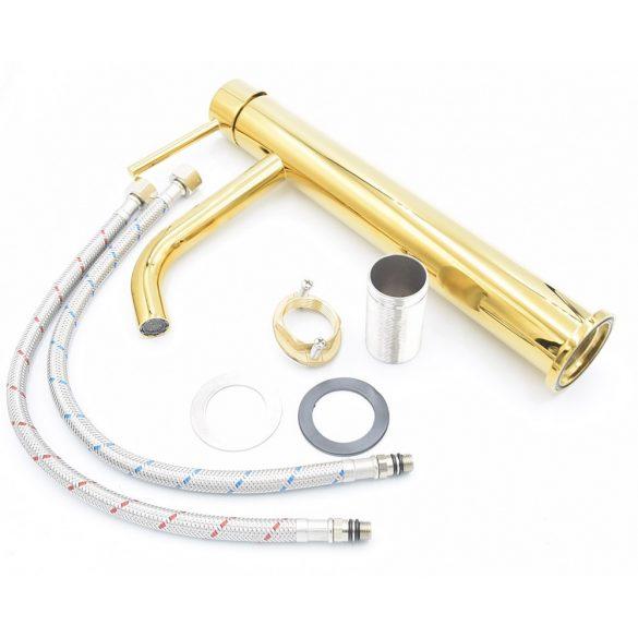 Gamma Roy Gold magasított mosdó csaptelep - arany